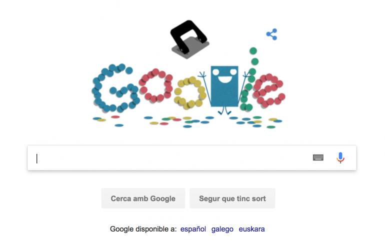 Doodle celebració invenció perforadora